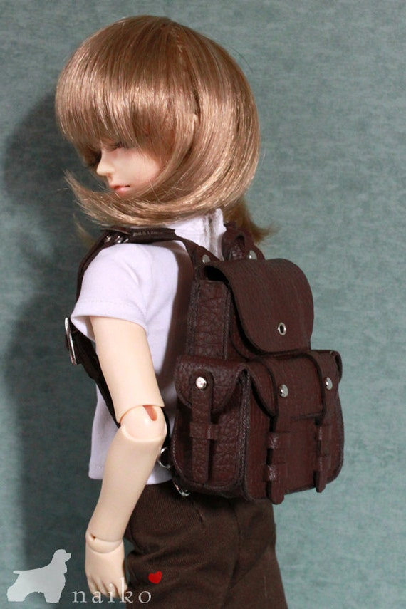 Naiko-handmade bag- Brown shoulder bag for BJD MSD