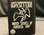 Led Zeppelin Black Bill Fold Wallet