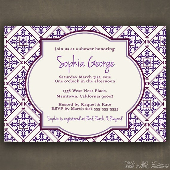 Items similar to no53 spanish tile save the date shower for Wedding invitations in spanish etsy