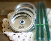 1 Canning Jar Drinking Lids and BPA Free Straw - Mason Jar Tumbler Lid - One Tumbler Lid and Straw Set