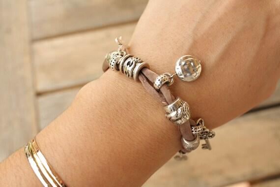 Hand Dyed Silk Charm Bracelet
