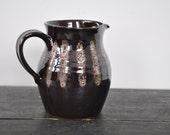 Brown striped retro jug
