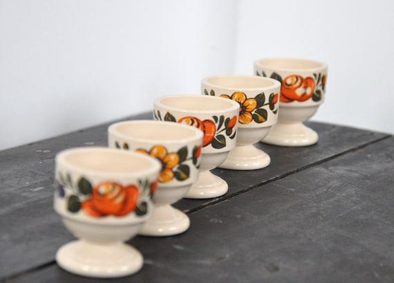 Retro Emsa egg cups - set of five