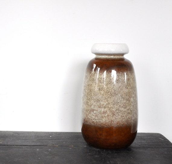 VEB Haldensleben vase | Retro brown vase | fat lava vase |