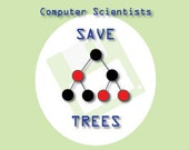 Geektastic Girl Greeting Card (4x8) - Save Trees