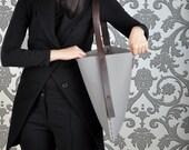 Felt bag with leather handles