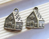 20pcs Old Cabin 14x22mm Antique Bronze Old Farm House Charm Pendants C501-4
