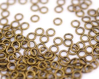 200pc 8mm Solid Brass Jumprings Jump Rings 22 Gauge B407-1