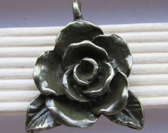 Flower charms -6pcs Antique Bronze Flower Charm Pendants 20x23mm C207-5