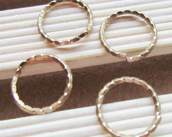 50pcs Solid Brass Twisted Fancy Jumprings Jewelry Findings 12mm B407-5