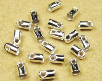 End Caps -300pcs Silver Plated End Cap Clasp Clips Wholesale Jewelry Findings 2x4mm