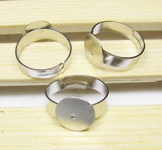 Ring Blanks Gol Silver Semi Set Ring Blanks - Cooksongold
