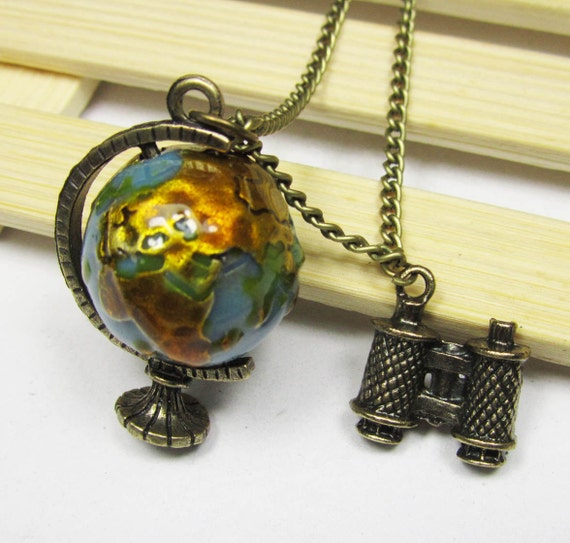 Globe pendant necklace 1pc discovery explorer globe tellurion globe pendant necklace 1pc discovery explorer globe tellurion telescope necklace pendant from diybeadshop on etsy studio mozeypictures Gallery