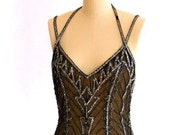 DIVA-ITIS - Black Beaded Dress by Bob Mackie Boutique - Lillie Rubin - Size 4/6