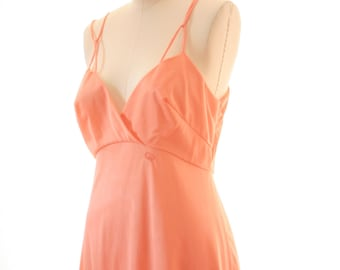 Ginger Rogers for JCPenney - Vintage Slip from the 1970's - Logo - GR. Tangerine - Size Small