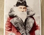 Retro Santa Claus Postcard Set - Vintage Images - Set of 4 cards - 5-1/2 X 4-1/4