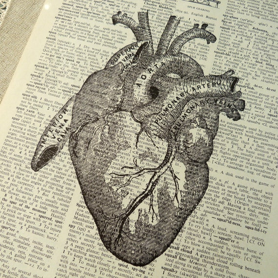 Items similar to Dictionary Art Print - Upcycled Vintage ...
