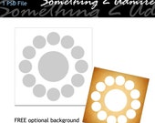 Photo Collage, 20 x 20 Circles, DIY, 1 PSD file, Custom Storyboard/Collage, Templates for Photographers