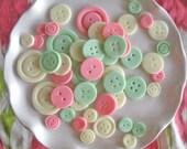 Fondant Pastel Buttons