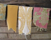 Decorative fabric twine garland
