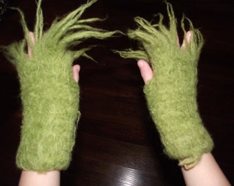 Kids Grinch Hands Fingerless Gloves  Request  Yours