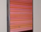 ON SALE - Reclaimed Wood Abstract Sunset Original Painting