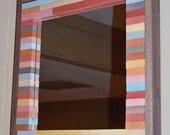 ON SALE - Reclaimed Wood Mirror (Multi Color)