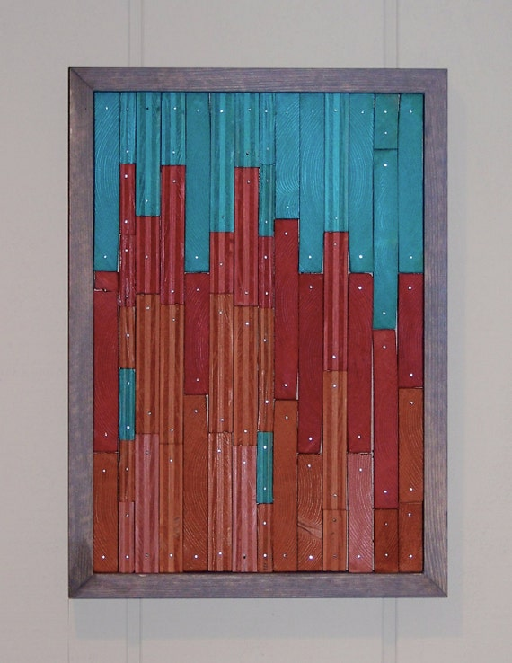 Reclaimed Wood Abstract Original Painting