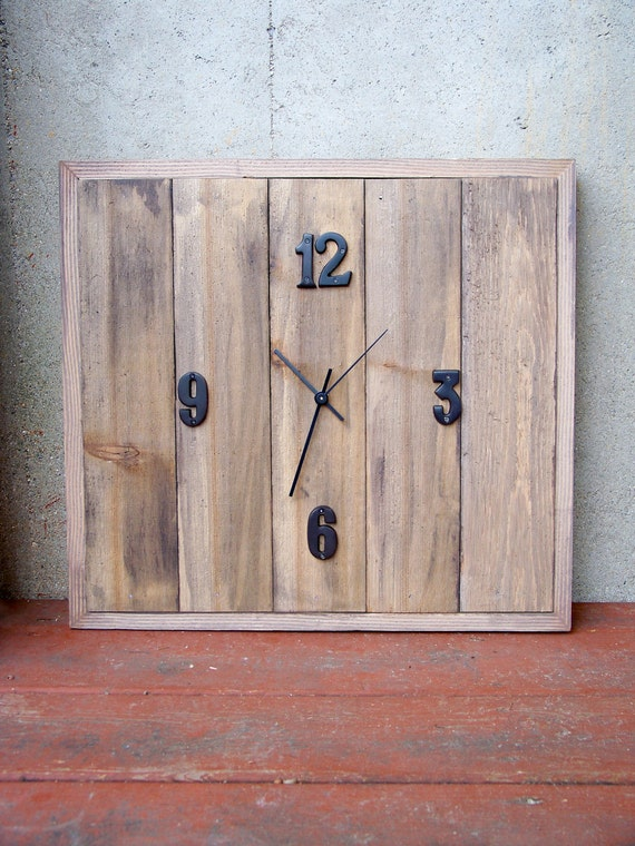 Reclaimed Cedar Wood Clock