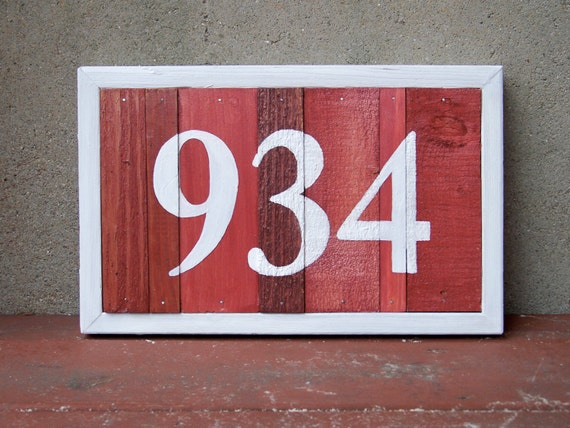 MADE TO ORDER - Reclaimed Wood Customizable Address Plaque