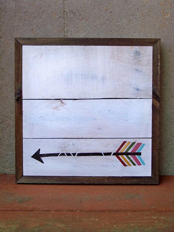 Reclaimed Wood Arrow Painting