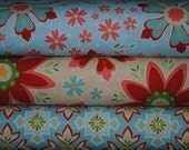 ON SALE 30% OFF - Delighted by the Quilted Fish for Riley Blake One Half Yard Bundle - 1.5 Yards Total