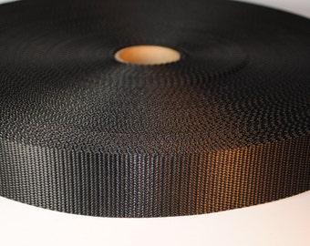 "1.5"" Black Nylon Webbing - 10 Yards - More Available"