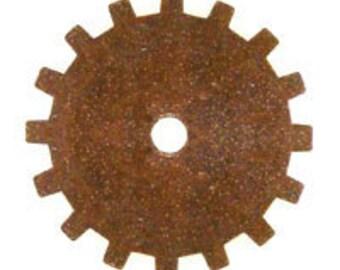 ON SALE! 20% OFF! 19mm Gear - Vintage Patina Trinity Brass