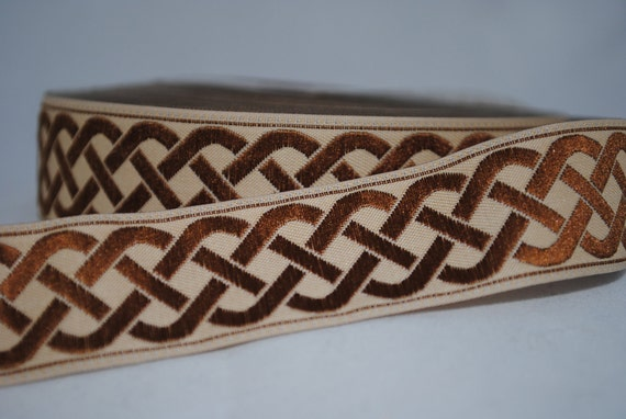 Celtic Knot Jacquard Trim 7/8 inches wide - 2 Yards