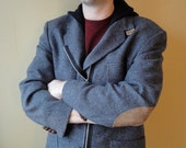 SALE - Size 42R-Restructured Blazer Jacket with Elbow Patches, Hood and  Zipper