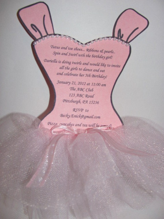 Ballerina Invitation Ideas is perfect invitation ideas