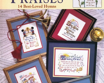 Cross Stitch Booklet:  Sing His Praises (14 Best-Loved Hymns)