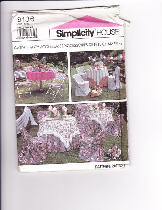 VINTAGE Simplicity HOUSE Sewing Pattern for Garden Party Accessories