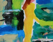 Musing Original Abstract Impressionism Acrylic Painting Woman Lady John Williams JMW art