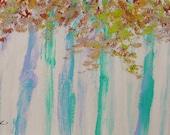 Feathered Leaves  Original Acrylic Expressionism Trees landscape JMW art John Williams