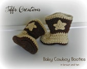 Baby cowboy booties - adorable available in any size newborn to 12 months you pick the color