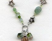 Tourmaline sterling star link necklace