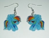 My Little Pony Friendship Is Magic. Earrings. Rainbow Dash, Derpy Hooves, Custom
