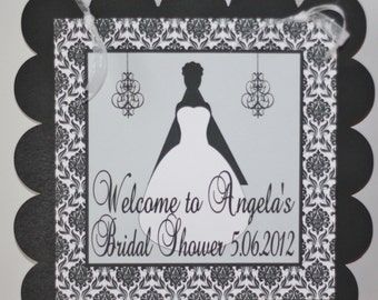 Elegant Bride Bridal Shower Door Sign - CUSTOM - Ask about our Party Pack Specials - Free Ship Over 65.00