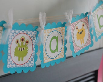 """Little Monster Baby Shower Baby Bash """"It's a Boy"""" Baby Bash Banner - Ask About Our Party Pack Special"""