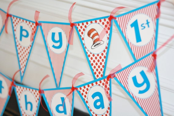 Happy Birthday Pennant Dr. Doctor Cat Theme Banner With Age - Ask About Our Party Pack Specials - Free Ship Over 40.00