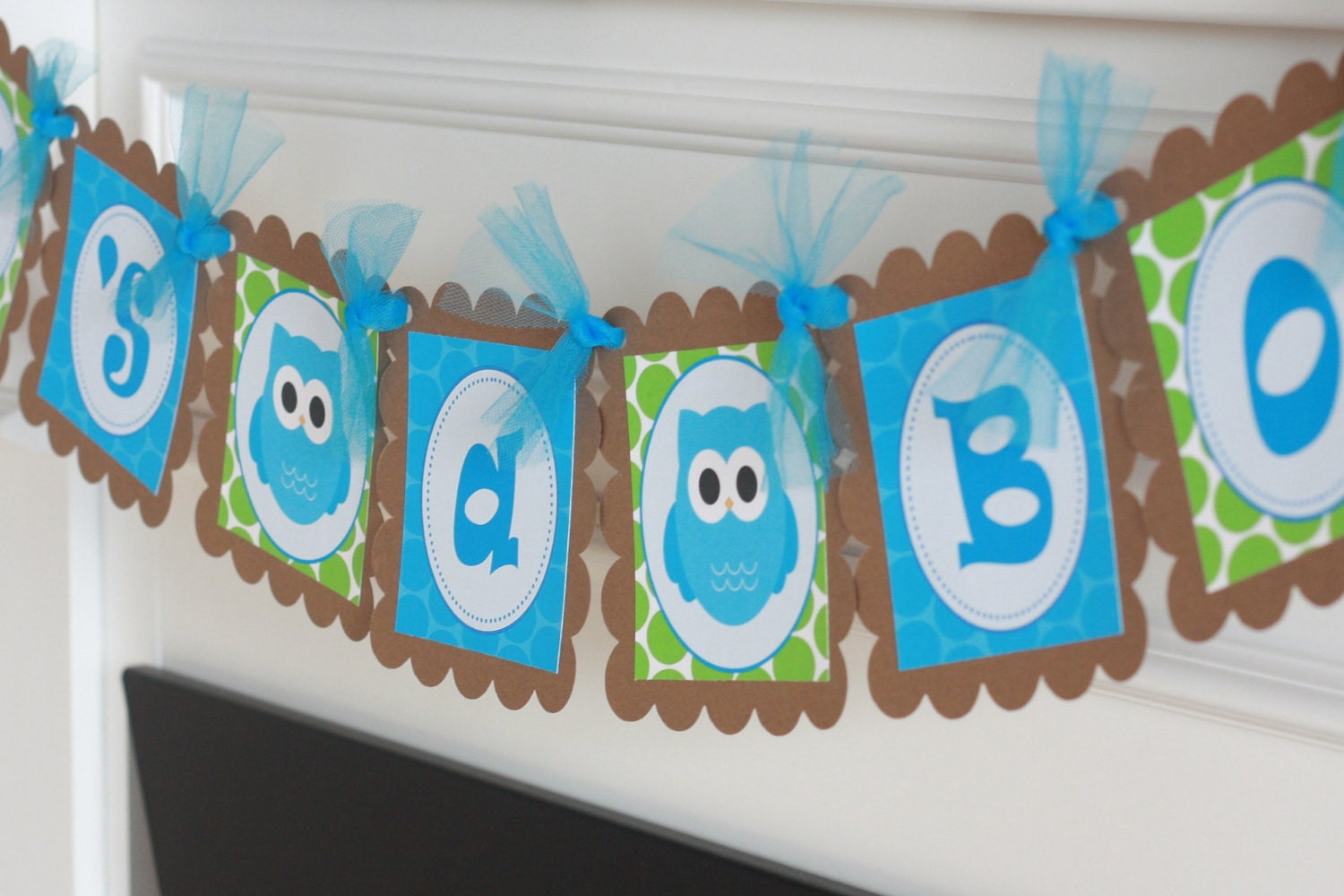Owl theme it 39 s a boy or oh baby turquoise by for Baby shower owl decoration ideas