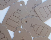 25 Wedding Gift / Favor Tags - Wedding Cake
