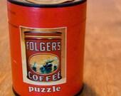 Folgers Coffee tin